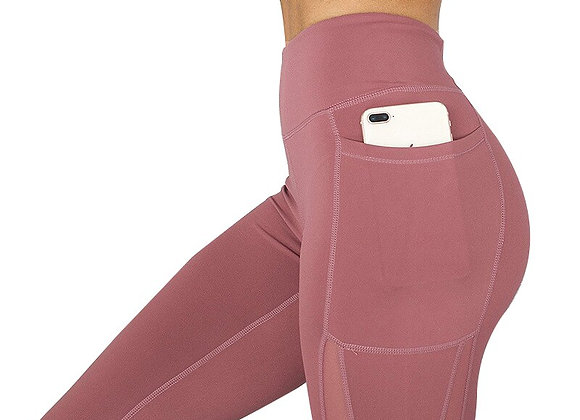 High Waist Pocket Mesh Comfortable Leggings
