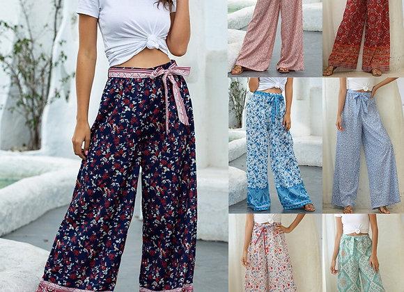 Ethnic Print Boho Beach Pants