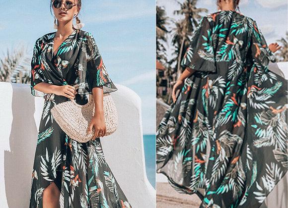 Boho Maxi Wrap Dress