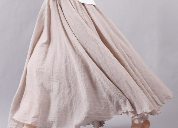 Linen Cotton Long Skirt