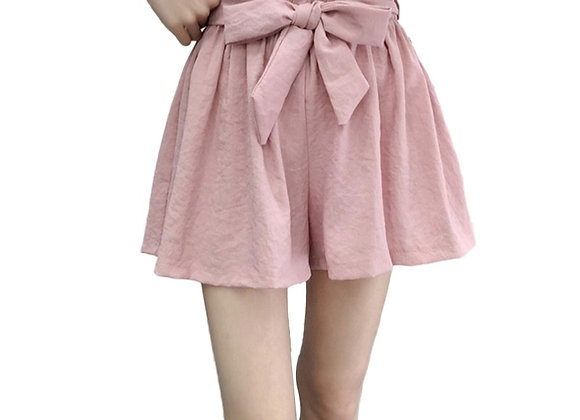 Flare High Waist Bow Tie Style Shorts