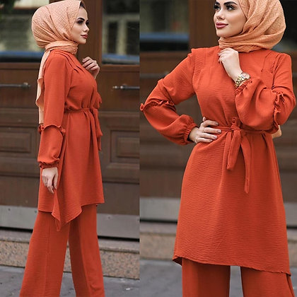 Two piece Muslim abaya sets
