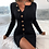 Thumbnail: Sexy Button Slit Long Sleeve Knitted Dress