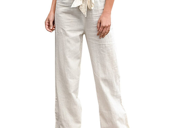 Elastic Waist Cotton  Pants