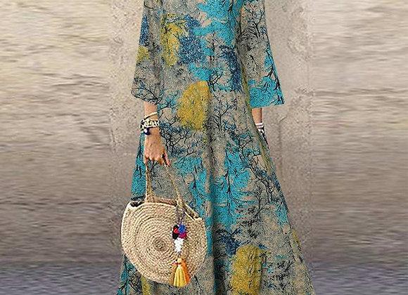 Floral Printed Loose Dress