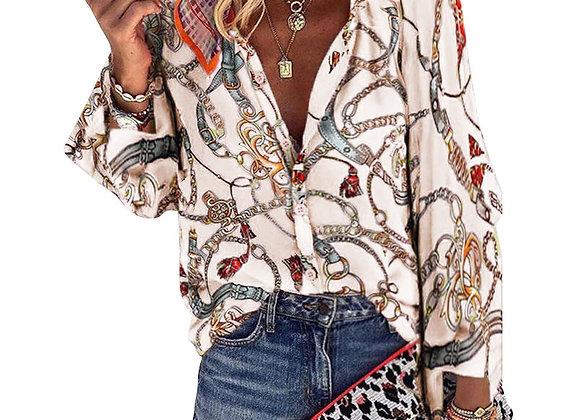 V-Neck Long Sleeve Shirts