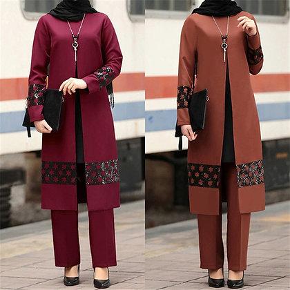 Muslim abaya pant set