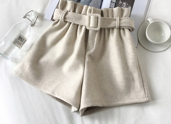 High Fashion Belted Wide Leg Shorts