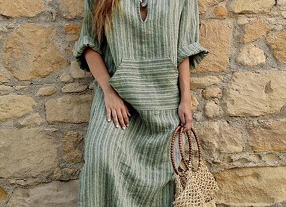 Linen Abaya Dress