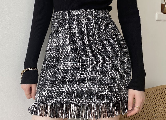 Wool Plaid Mini Skirt
