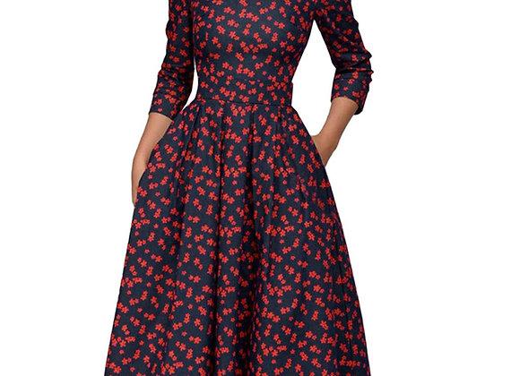 Elegant Vintage Style Midi Dress