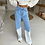 Thumbnail: High Waist Jeans with Faded Legs