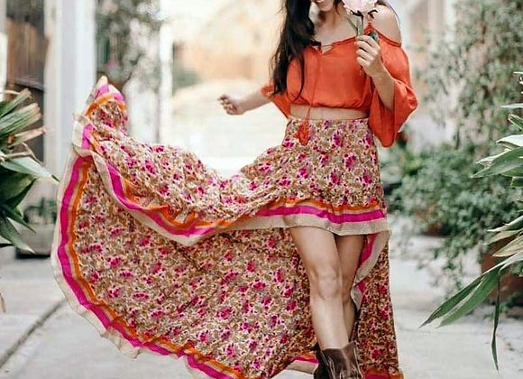 Boho Style Sexy Maxi Floral Skirts