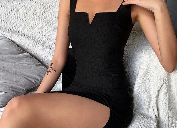 Little Black Elegant Mini Dress