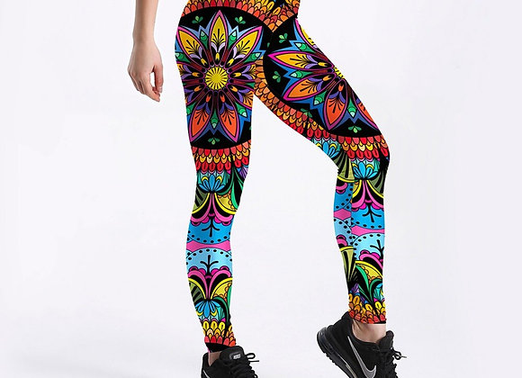 Color Floral Printed Leggings
