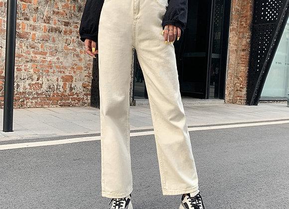Wide Leg Straight Cut Jeans