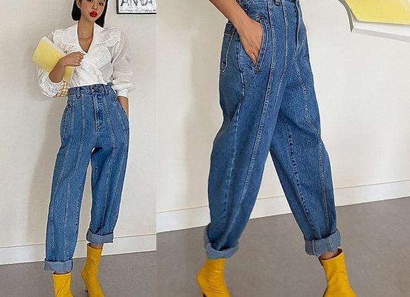 High Waist Harem Jeans