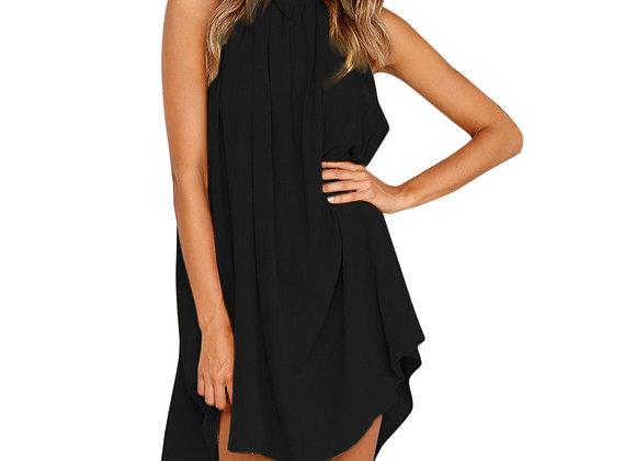 Sleeveless Halter Neck Mini Dress