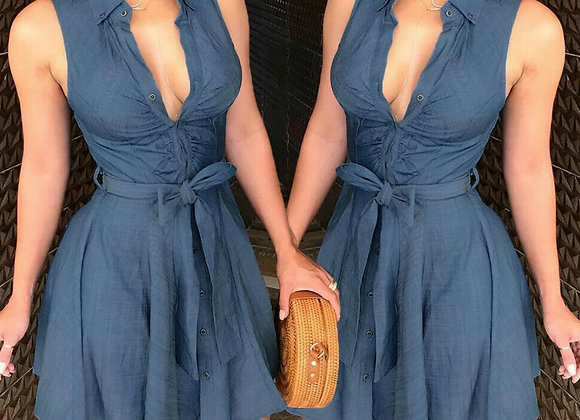Sexy Clubwear V-Neck Mini Dress