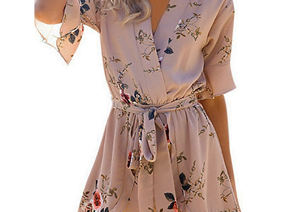Flare Sleeve Sexy Romper Jumpsuit