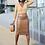 Thumbnail: High Waist Beaded Faux Leather Pencil Skirt
