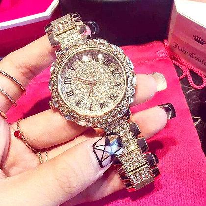 Luxury crystal lady wristwatch