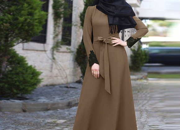 Muslim Dress Elegant Turkish Robes With Belt
