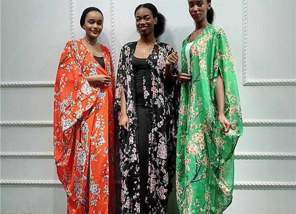 Printed Kimono Cardigan Abaya