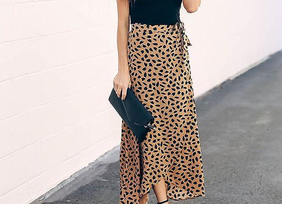 Polka Dot Long Maxi Skirt
