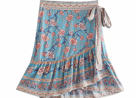 Vintage Chic Floral Printed Boho Skirts