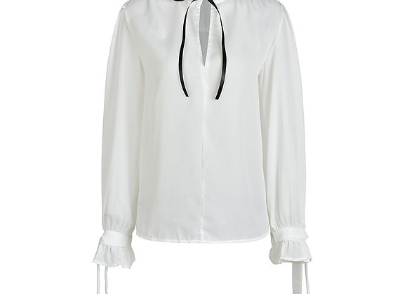 Bowknot Office  White Shirts
