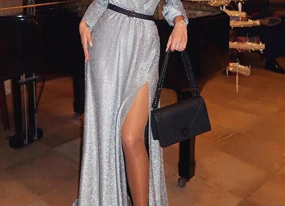 Sexy Glitter Elegant Slim Cut Evening Dress