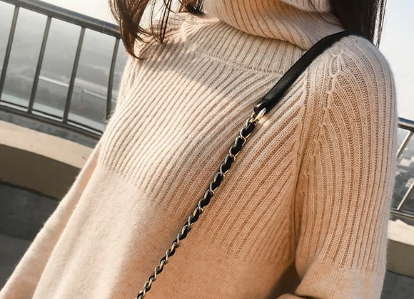 Turtleneck Stretch Knitted Sweater