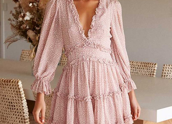 Boho Inspired Sexy Chiffon Ruffle Summer Beach Party Dress