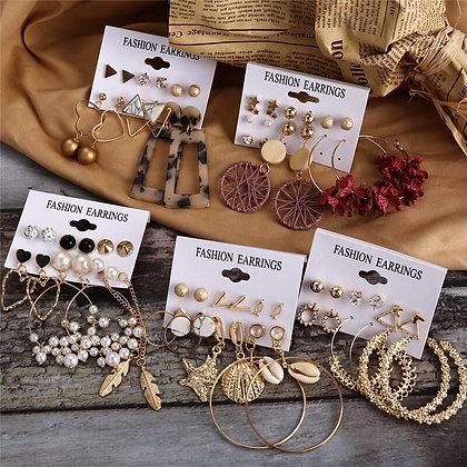 Bohemian style earrings costume jewellery