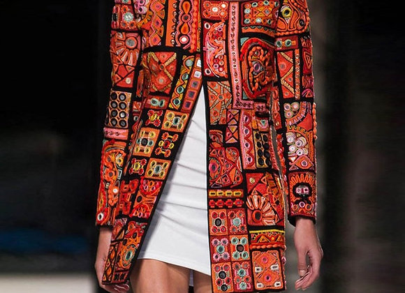 Ethnic Printed Retro Coat