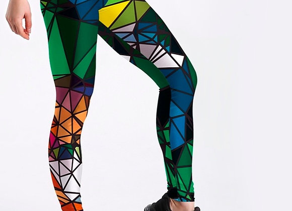 Digital Print Diamond Color Leggings