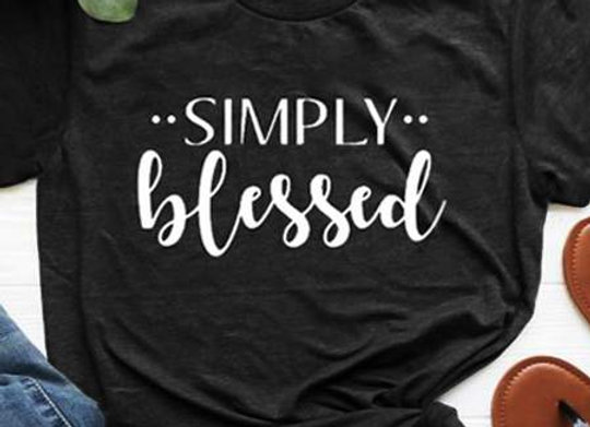Simply Blessed Printed T-Shirt
