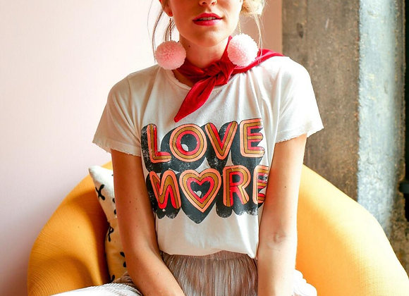 Love More Graphic Cotton Tees