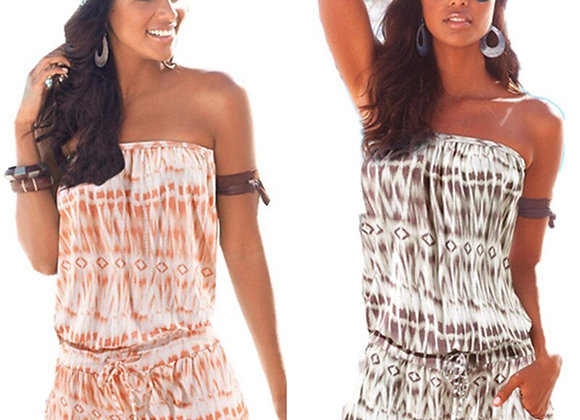 Casual Boho Strapless Romper Playsuit