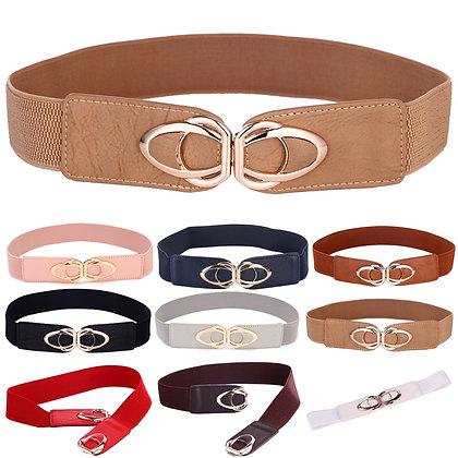 Fashionable wide elastic belt