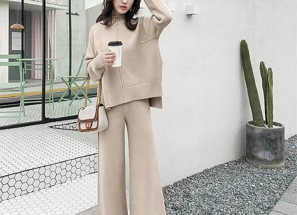 Knitted Tracksuit Two Piece Set