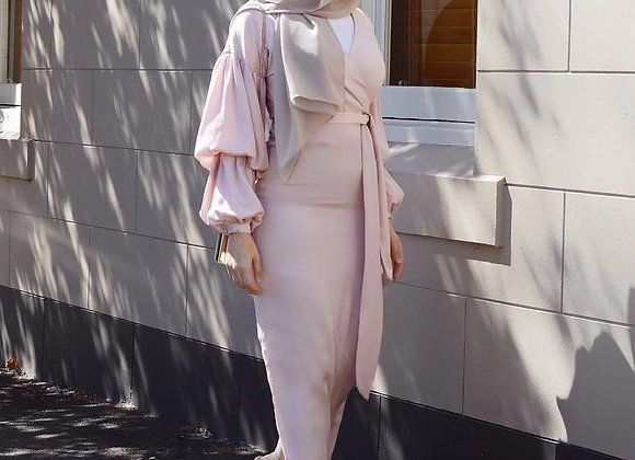 Ethnic Dress with Puff Sleeve