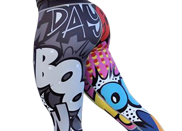 Comic Digital Printing Leggings
