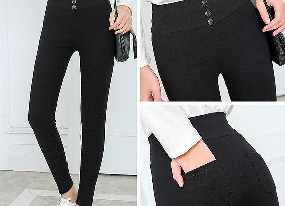 Black Pants Pencil Trousers