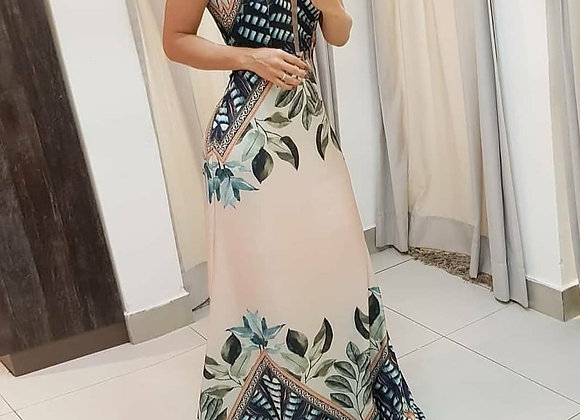 Classy Halter Neck Maxi Dress