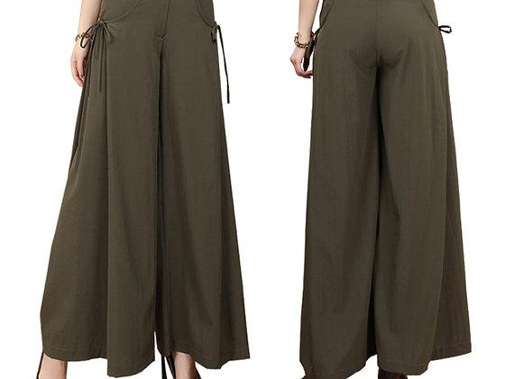 Smart Casual Wide Leg Culottes Style Long Pants