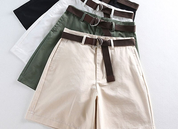 Smart Casual High Waist Slim Cut Shorts For All Occasions