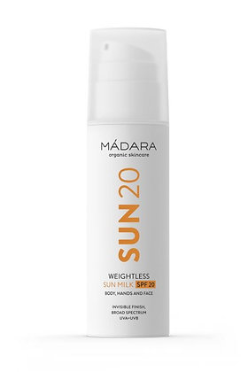 MÁDARA SUN20 Ultra leichte Sonnenmilch LSF20