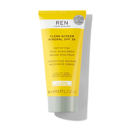 REN Clean Skincare Clean Screen Mattifying Face Sunscreen SPF 30